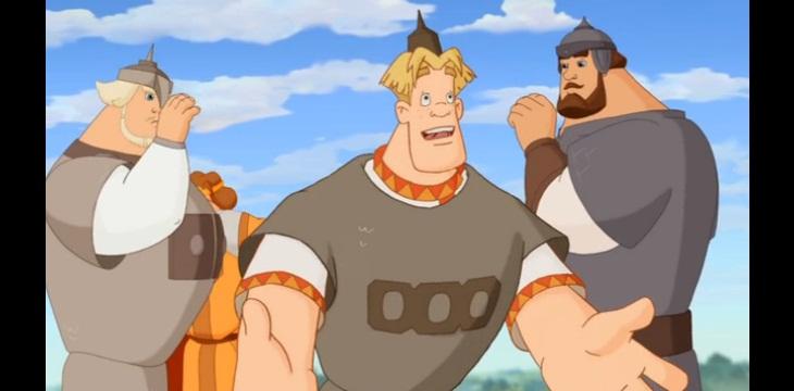 Скриншот из мультфильма Три богатыря и Шамаханская царица
